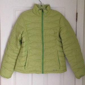 NWT Green Eddie Bauer Puffy Down Jacket Med.